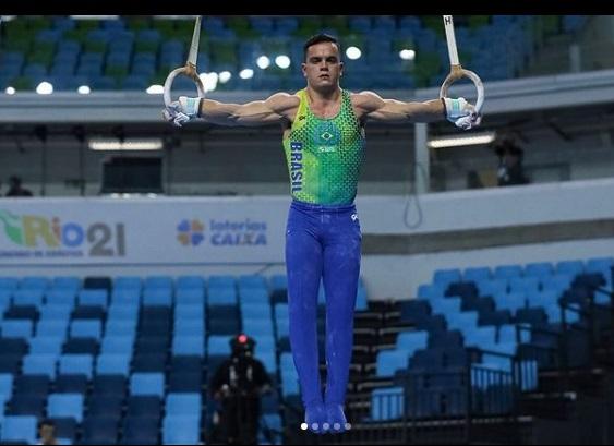 Caio Souza conquistou o ouro nas argolas / Foto: Ricardo Bufolin/CBG