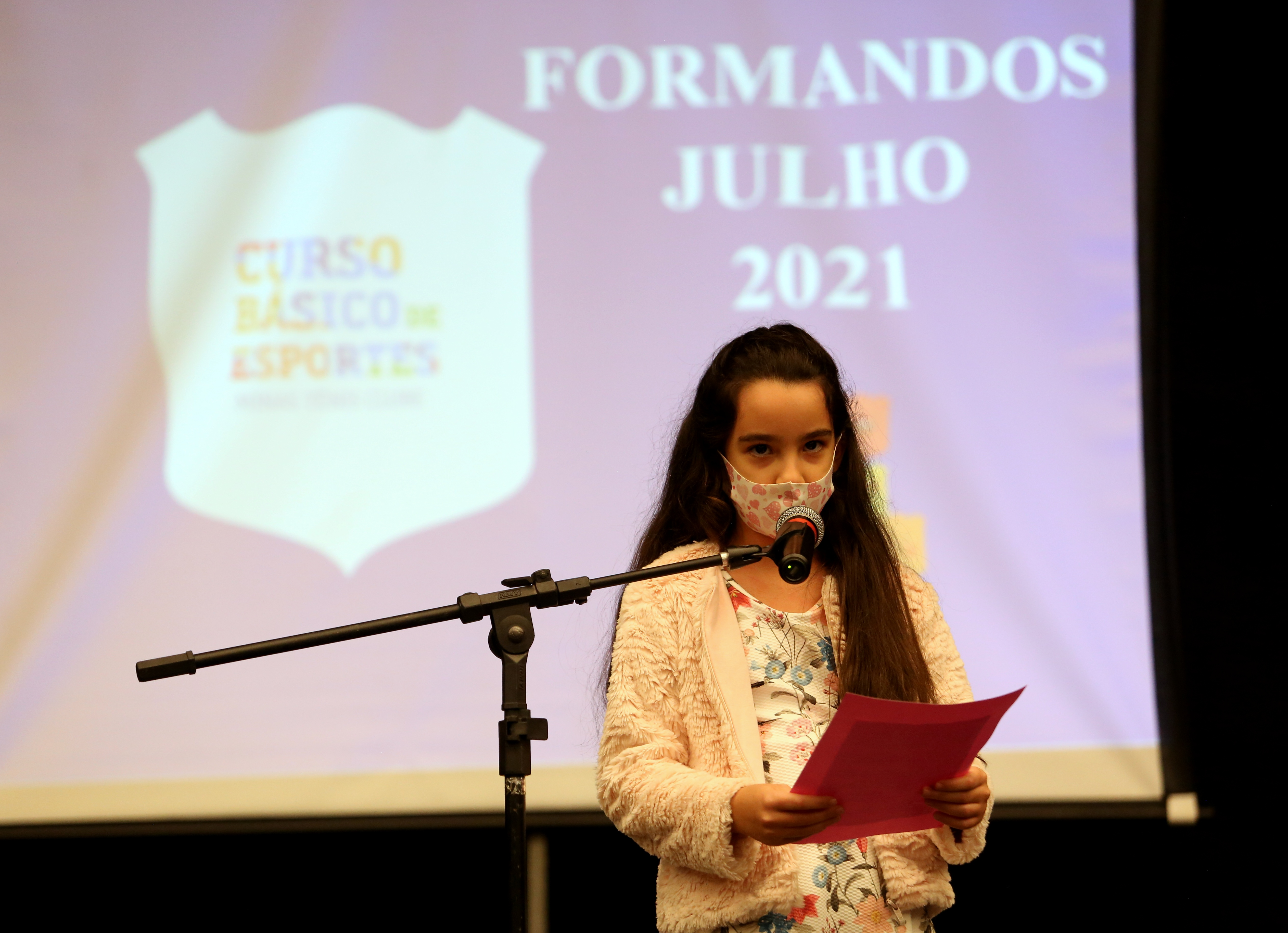Gabriela Labarrére Pereira, a oradora das turmas do Minas I