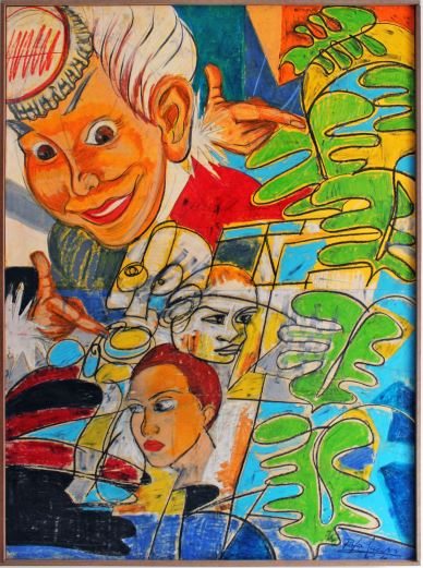 """Rafael Lucchesi, que vai expor as pinturas que compõem a mostra """"Mentalismo"""""""