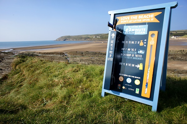 Beach Clean station reduce Marine Litter by 61%