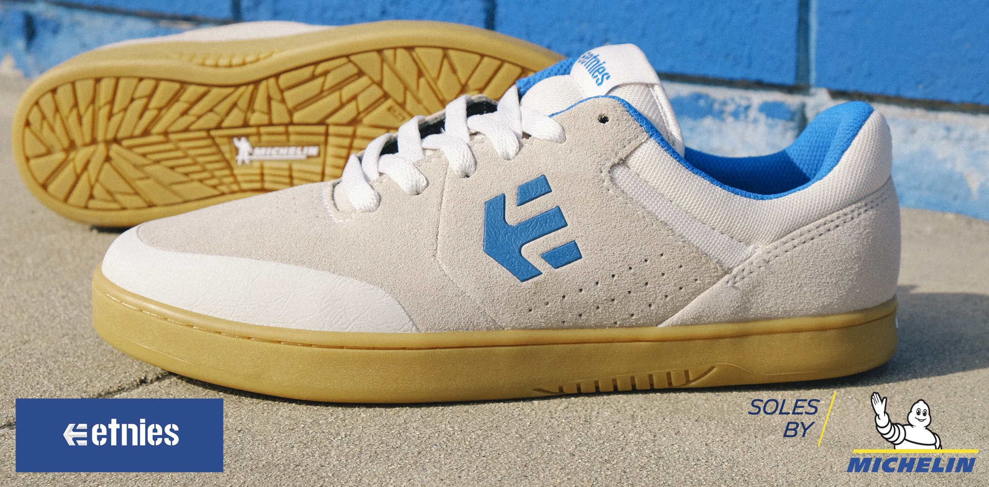 The Michelin sole on the etnies skate shoes