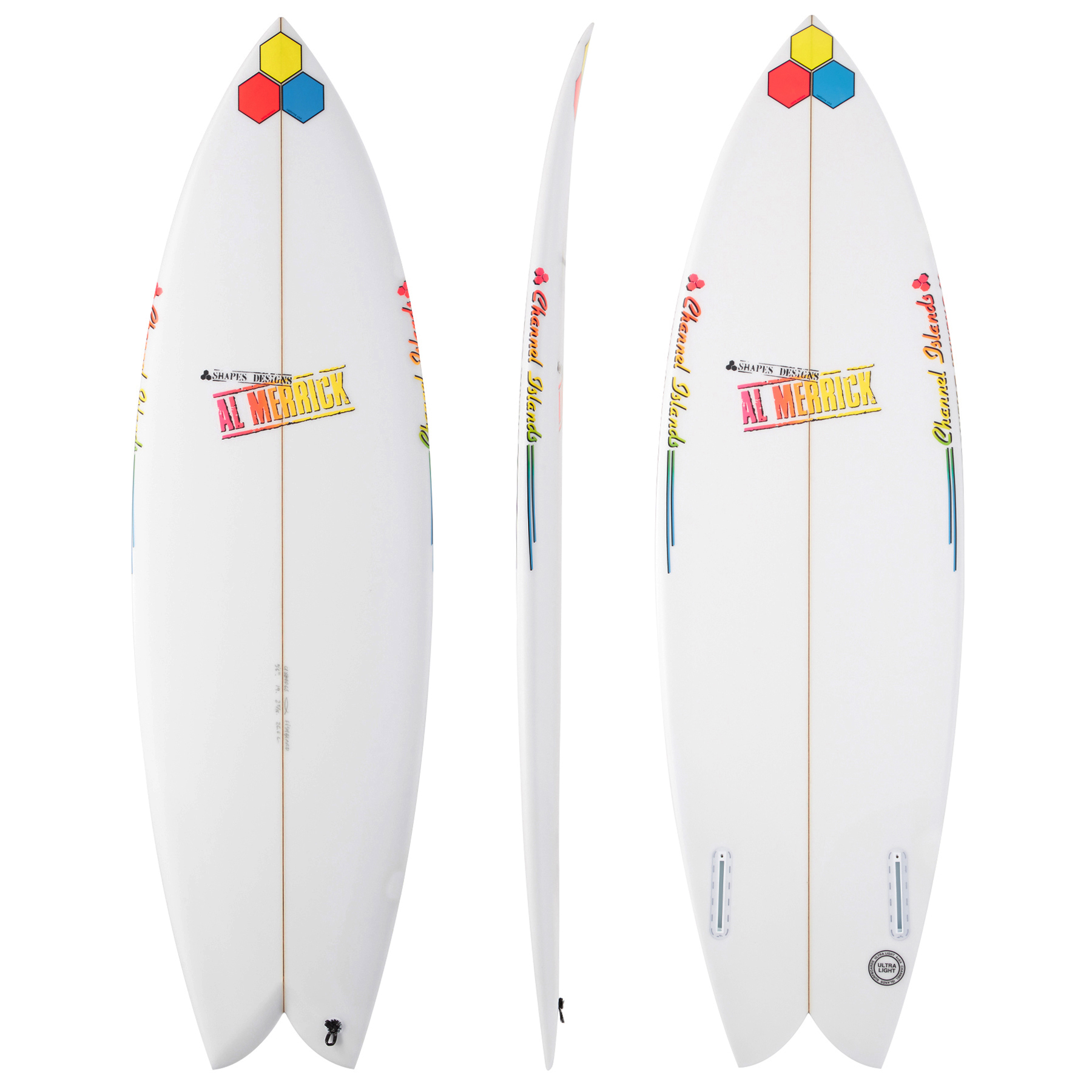 Shop the Channel Islands FishBeard Futures Twin Fin Surfboard at Surfdome