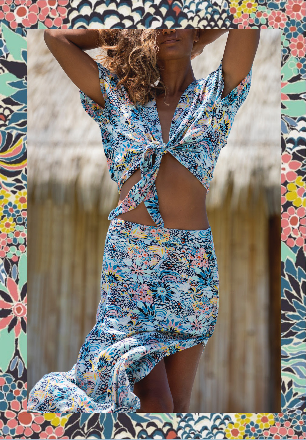A piece from the Roxy x Liberty Fabrics collaboration inspired by coral reefs