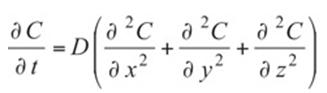 C = Concentração. D = Difusividade de Umidade.