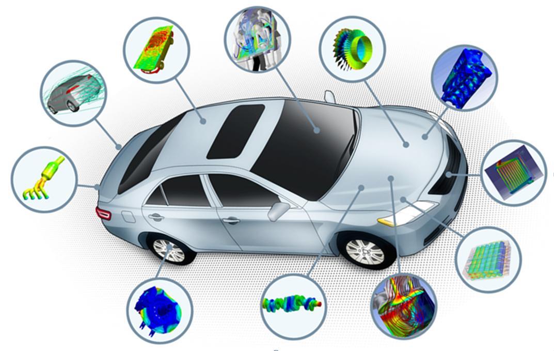 Na área automotiva, por exemplo, as análises por meio da simulação computacional englobam muitas físicas