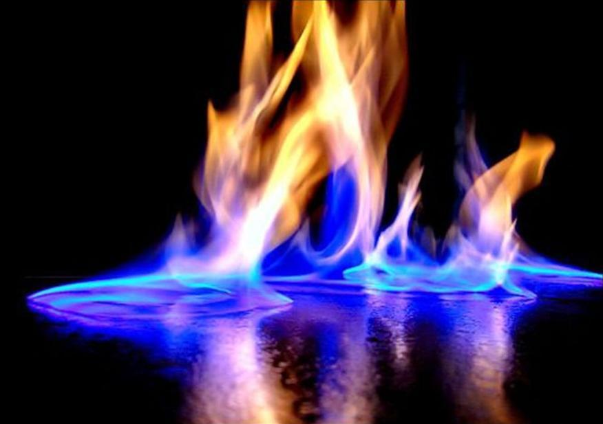 Ejemplo de una reacción típica de combustión