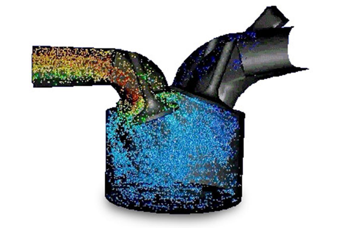Simulación del flujo interno de un motor de combustión usando ANSYS Fluent