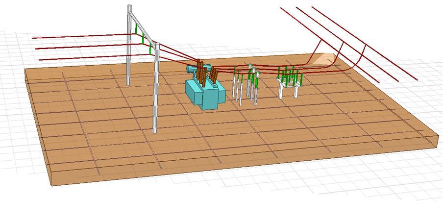 Figura 1 - CAD de parte da SE hipotética