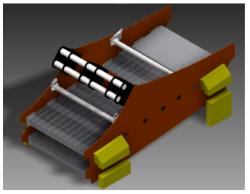 Vista isométrica diseño CAD / harnero modificado