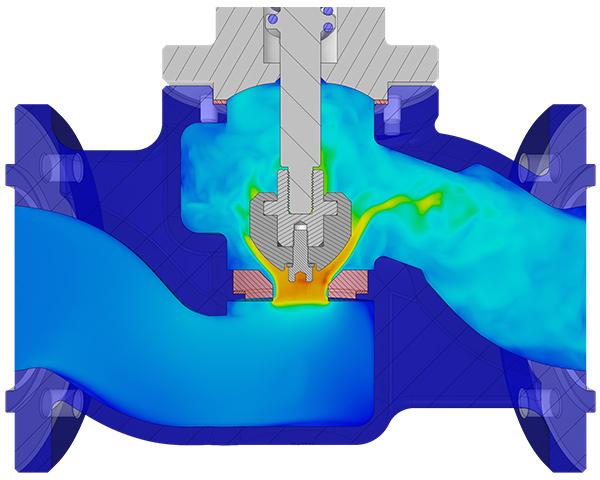modelo computacional feito no ansys discovery