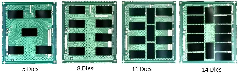 Amostras usadas na validação experimental com diferentes quantidades de silício.