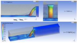 Análisis de comportamiento de lodo en estructura hidráulica mediante Dinámica de Fluidos Computacional.