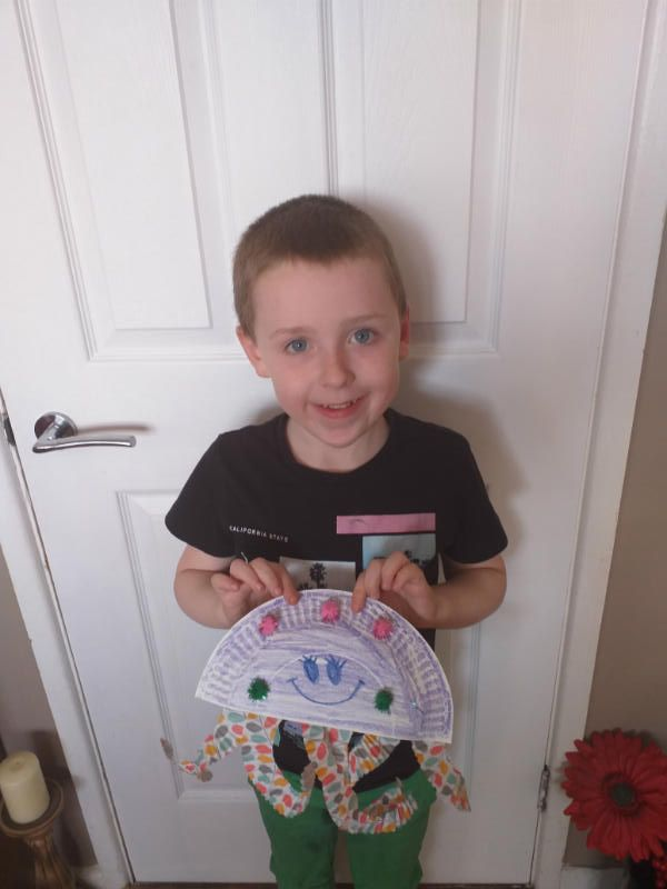 Lorcan with his finished octopus