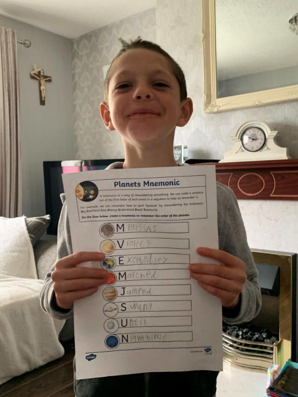 Proud of his Planets mnemonic