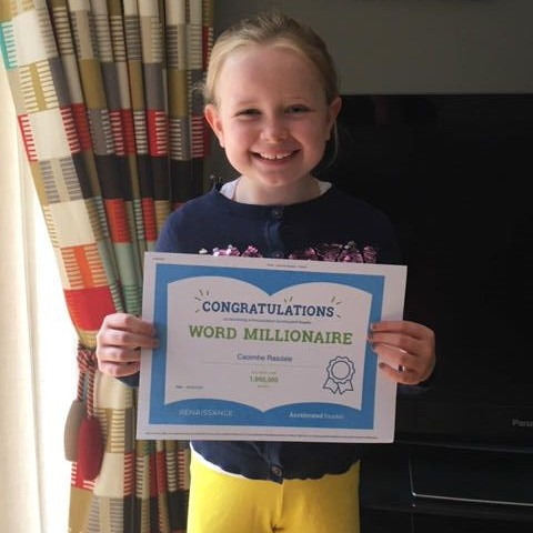 Congratulations to Caoimhe on becoming an AR Word Millionaire