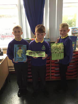 Mrs Kelly's class created marvellous mini beasts from natural materials in our environment.
