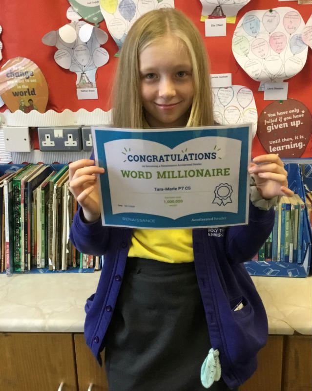 Congratulations Tara-Marie, you are an Accelerated Reading Millionaire. Fantastic reading!