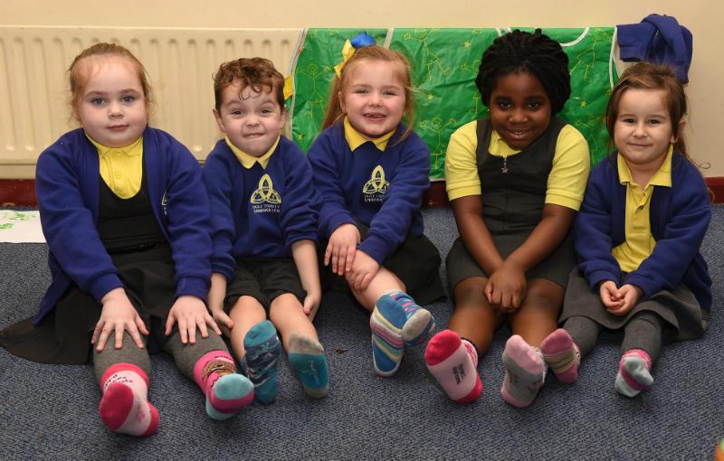 Odd socks in Mrs Colhoun's P1 class