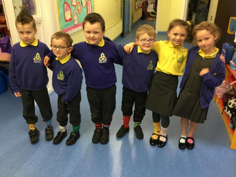 Odd socks in Miss O'Hanlon's P2 class