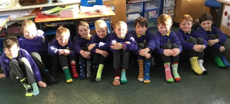 Odd socks in Mrs Kelly's P5 class