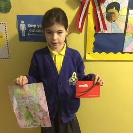 Gaels Christmas colouring competition winner, Congratulations Teagan, P5