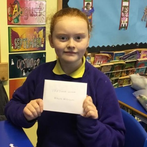 Gaels Christmas colouring competition: Congratulations Mikeala, P7.