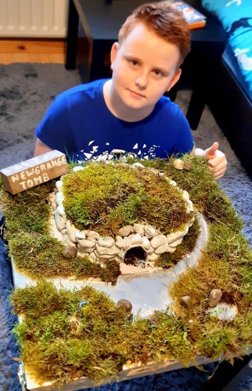 Eimantas has created a wonderful model of Newgrange for his Irish landmark topic.
