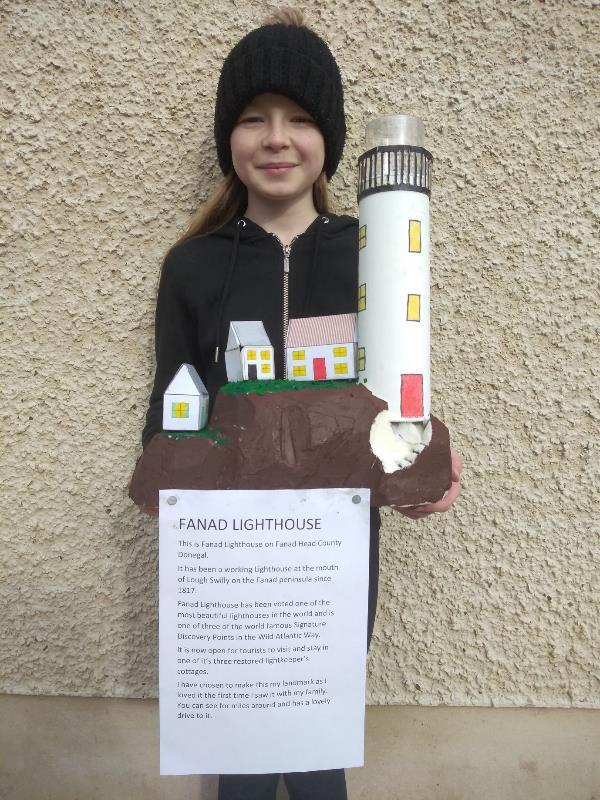 A wonderful model of Fanad Lighthouse by Elisha