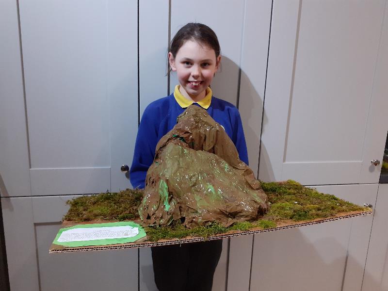 Ava has created a brilliant model of Croagh Patrick.