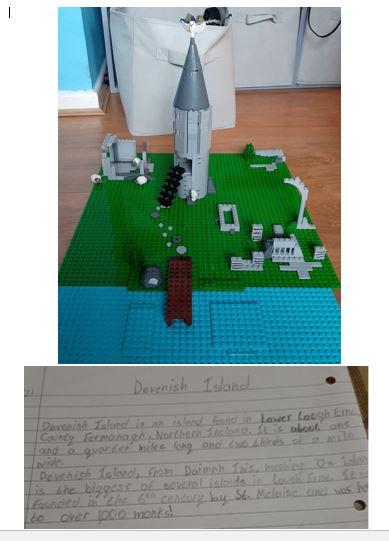 Rhys created a fantastic model of Devenish Island using Lego.