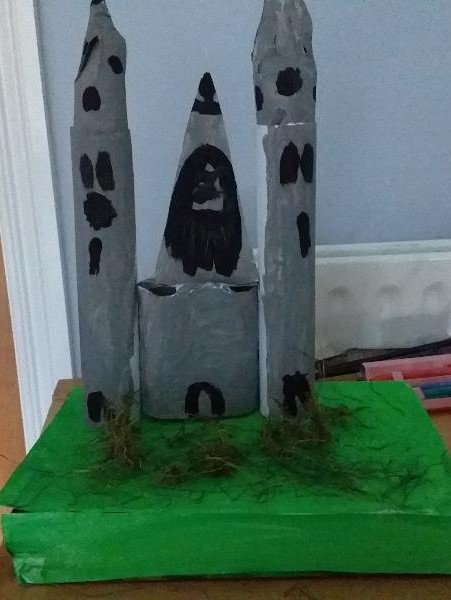Grace created an excellent model of Devenish Island