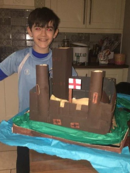 Alex's fantastic model of Maguires Castle, Enniskillen
