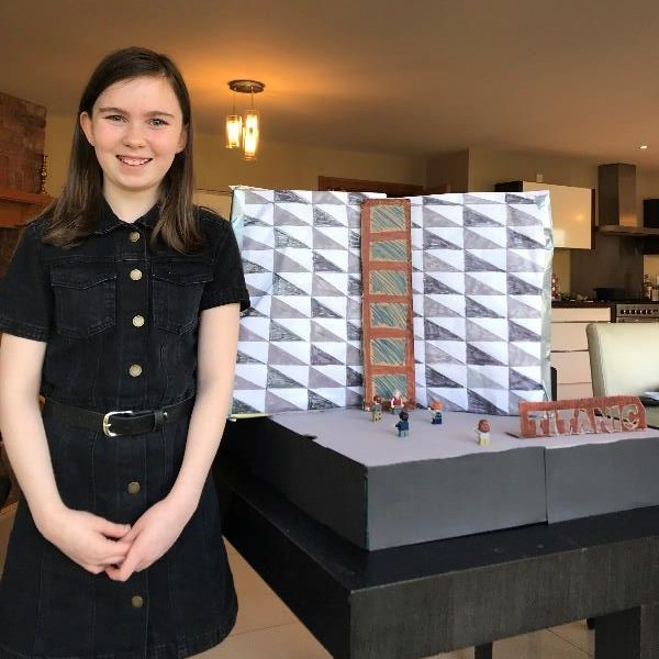 Christine has created a fantastic model of the Titanic Quarter