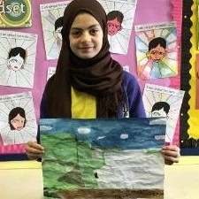 Rayan has created a wonderful painting of The Cliffs of Moher.