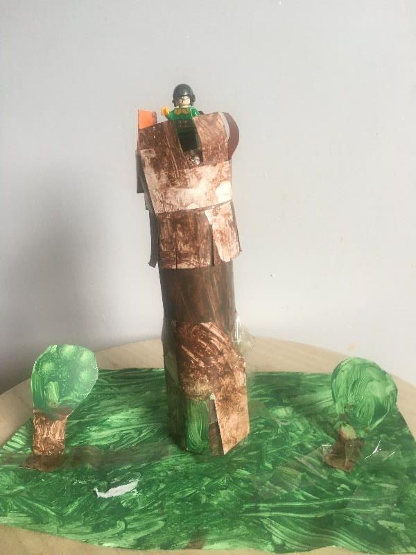 Lewis created a wonderful model of Coles Monument