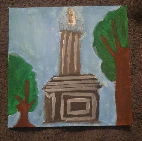 Rebecca painted a beautiful Coles Monument