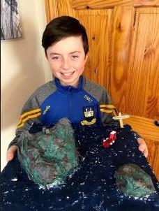 Ben made a super model of Skellig Michael
