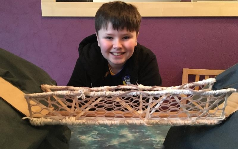 Danon built a great Carrick a Rede rope bridge