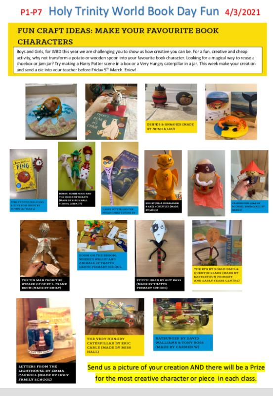 Please encourage your child to have a go at the creative activity explained in the picture... we can't wait to see what wonderful creations they come up with!