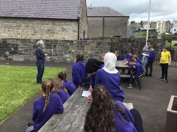 P6 children learning about Vikings in Fermanagh during a visit to the Enniskillen Musuem