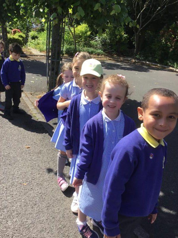 Mrs McCann's P1 enjoy their sponsored walk