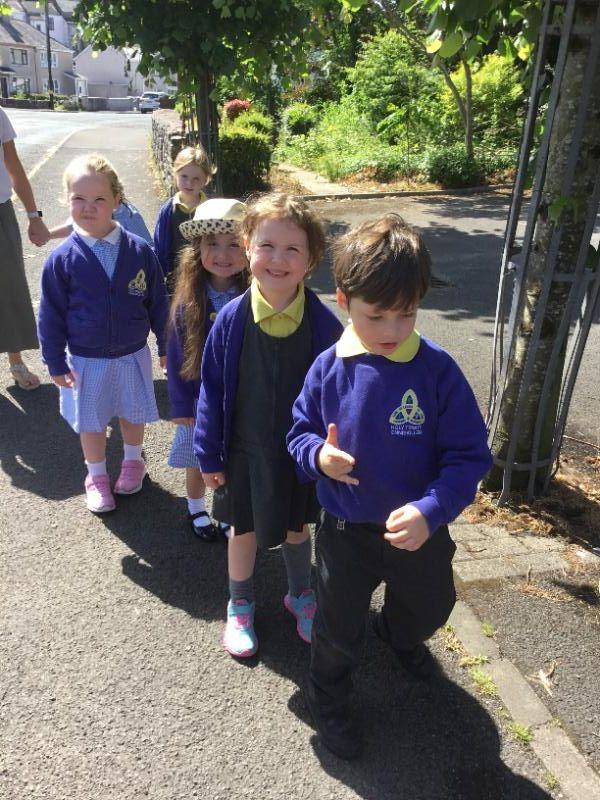 P1 enjoy their sponsored walk