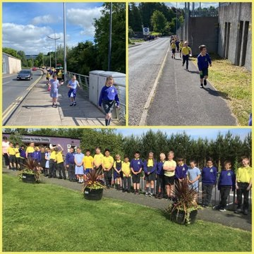 P4 classes enjoyed their sponsored walk.