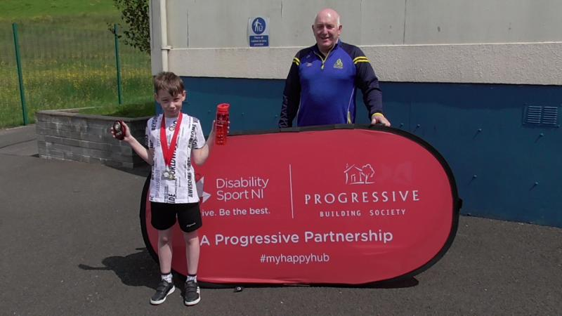 Sean from Ms Devine's class who came 2nd overall in the NI Boccia individual competition along with Joe.