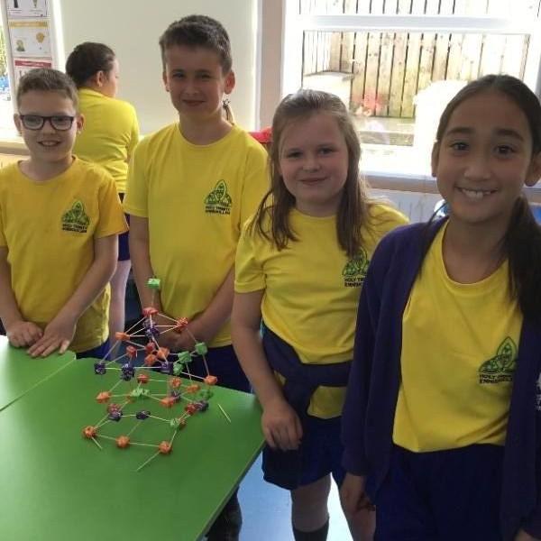 Mrs Cathcart's P6 class build the Eiffel Tower