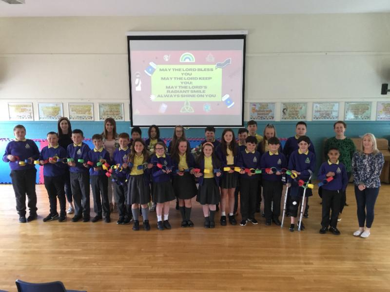 Mrs Daly's P7 class at their end of year Prayer Service