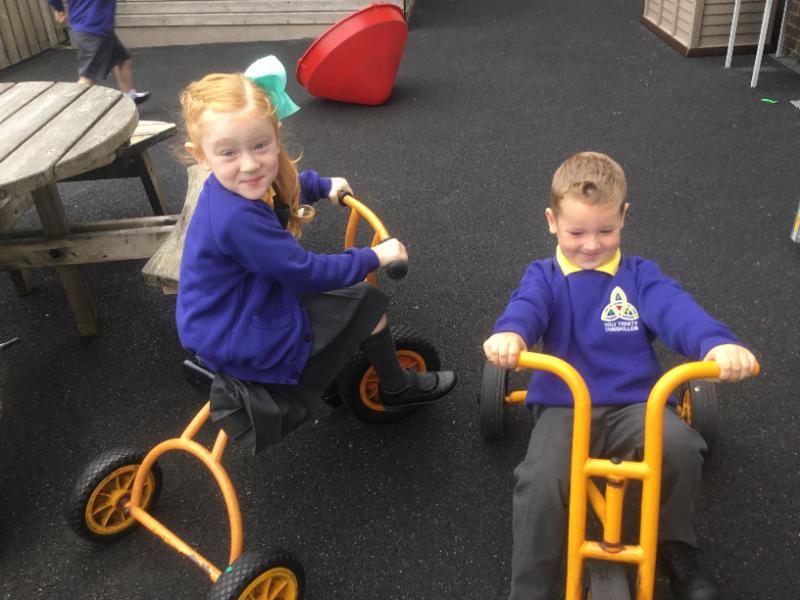 Mrs McMenamin's P1 class: outdoor play