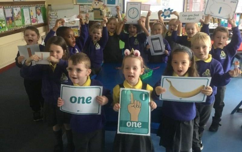Mrs McMenamin's P1 class: learning about 1