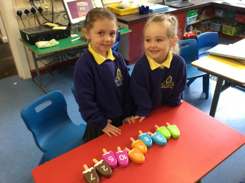 Mrs Fee's P1 class: learning to count