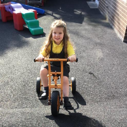 Mrs McCann's P1 Class:cycling.